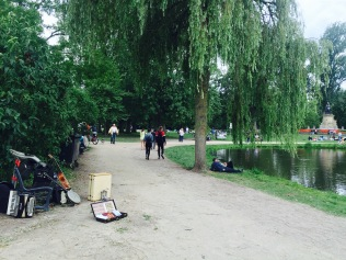 Busking in the park