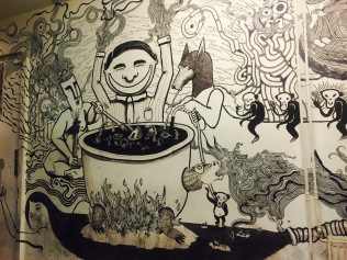 Mural in the smoking room at De Peper