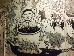 Mural in the smoking room at De Peper